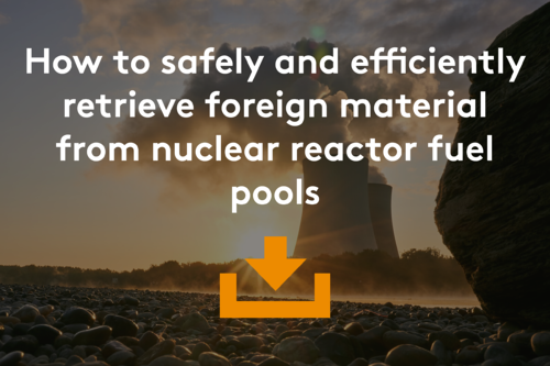 How to safely and efficiently retrieve foreign material from nuclear reactor fuel pools